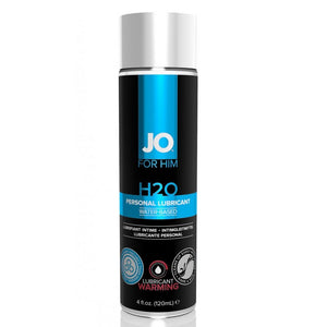 System JO For Men H2O Water Based Warming Personal Lubricant 125 ML 4.25 FL OZ Lubes & Toy Cleaners - Anal Lubes & Creams System JO
