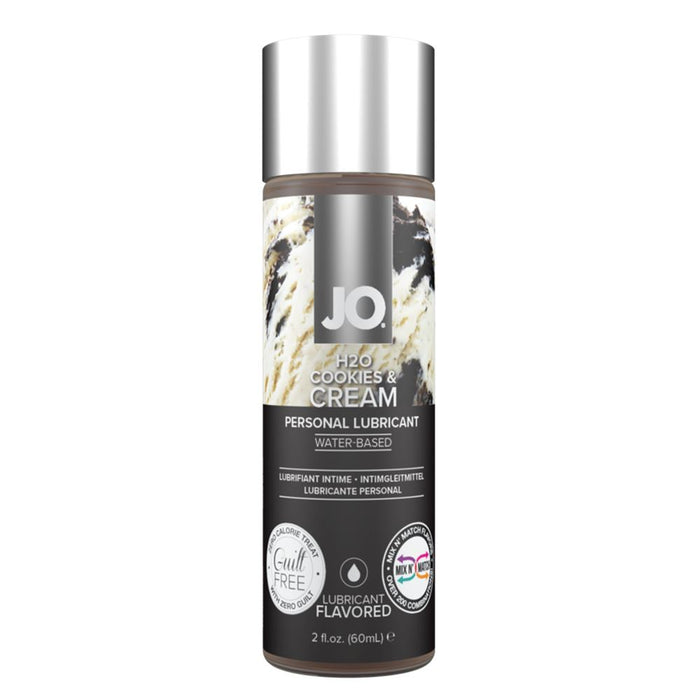 System JO H2O Flavored Limited Edition Lubricant 60 ML 2 FL OZ Cookies and Cream (Just Sold - Last Piece)