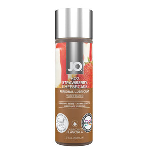 System JO H2O Flavored Limited Edition Lubricant 60 ML 2 FL OZ Strawberry Cheesecake or Cookies and Cream Lubes & Toy Cleaners - Flavoured Lubes System JO Strawberry Cheesecake