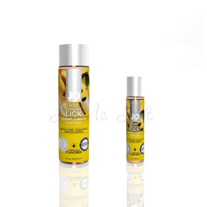 System JO H2O Flavored Lubricant Banana Lick 30 ML or 120 ML Lubes & Toy Cleaners - Flavoured Lubes System JO