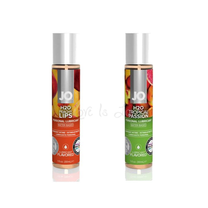 System JO H2O Flavored Lubricant Peachy Lips or Tropical Passion