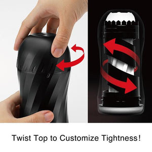 Tenga Air-Tech Twist Reusable Vacuum Cup Ripple Or Tickle (Newly Replenished) Male Masturbators - Tenga Masturbators Tenga
