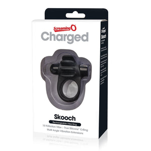 The Screaming O Charged Skooch Cock Ring Black ( Newly Replenished) Cock Rings - Rechargeable Cock Rings The Screaming O