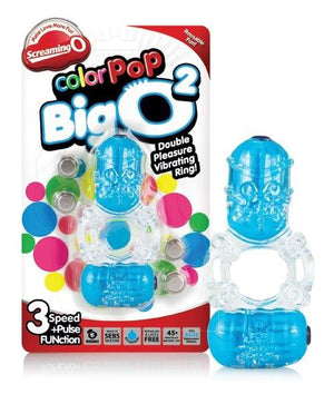 The Screaming O Colorpop Big O2 Blue Cock Rings - Vibrating Cock Rings The Screaming O