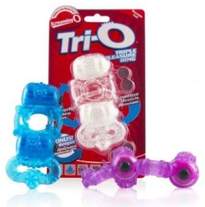 The Screaming O Tri-O Triple For Him - Vibe Cock Rings The Screaming O