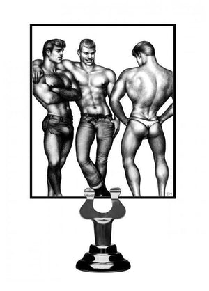 Tom Of Finland 3 Piece Silicone Cock Ring Set Blue Or Black ( Retail Popular Thick Cock Ring Set) For Him - Cock Ring Sets Tom Of Finland