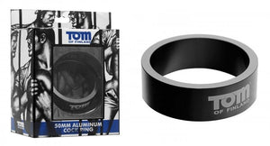 Tom of Finland Aluminum Cock Ring 50 mm or 60 mm For Him - Cock Rings Tom Of Finland 50 mm