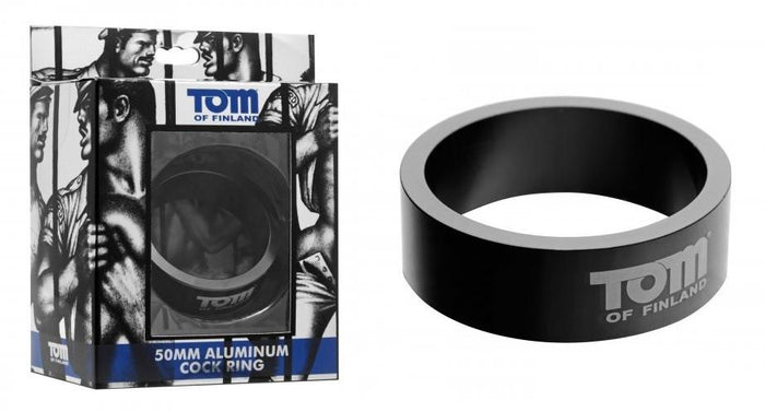 Tom of Finland Aluminum Cock Ring 50 mm or 60 mm (Authorized Retailer)(Newly Restocked)