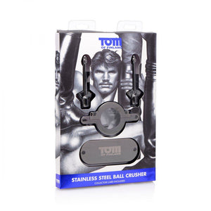 Tom Of Finland Stainless Steel Ball Crusher For Him - Cock & Ball Torture Tom Of Finland