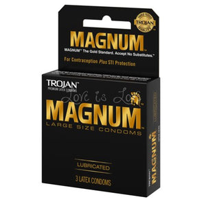 Trojan Magnum Large Size Condom (3 pcs) (Newly Replenished) Enhancers & Essentials - Condoms Trojan