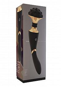 Vive Shiatsu USB Rechargeable Dual Wand And G-Spot Vibrator Wands & Attachments VIVE Black