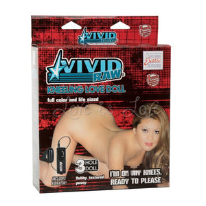 Vivid Raw Kneeling Love Doll With Vibration (Newly Replenished)(Limited Stock) Male Masturbators - Love Dolls CalExotics