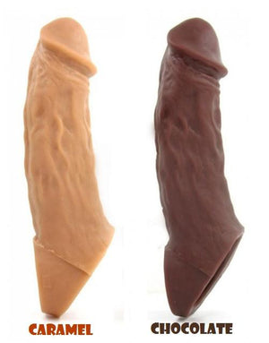 Vixen Creations Colossus Realistic Penis Extender Caramel or Chocolate or Vanilla For Him - Penis Extension Vixen Creations