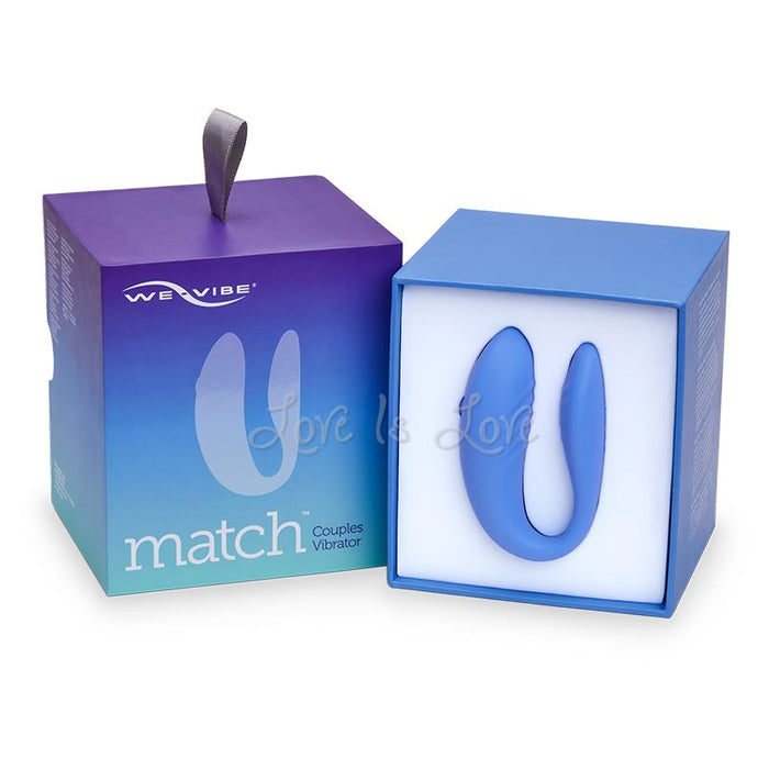 We-Vibe Match Remote Couples Vibrator Periwinkle (We-Vibe Authorized Retailer)