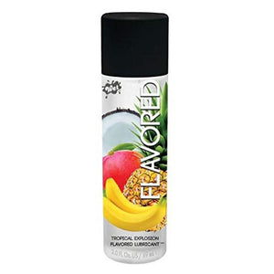 Wet Flavored Water Based Lubricant 3 FL OZ 89 ML Cherry or Passion or Strawberry or Tropical or Watermelon (New Packaging on May 19) Lubes & Toy Cleaners - Flavoured Lubes WET Tropical Explosion