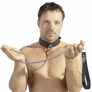 Zado Leather Chain Leash Bondage - Collars & Leash Zado