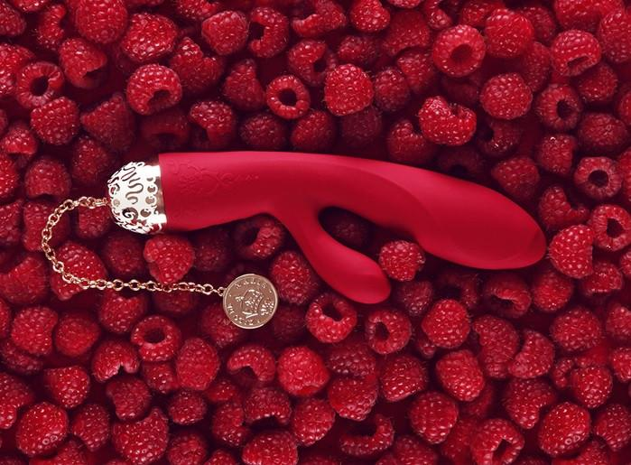 Zalo Versailles Rosalie 24K Gold Plated Rechargeable Rabbit Bright Red or Royal Blue ( Limited Stock)