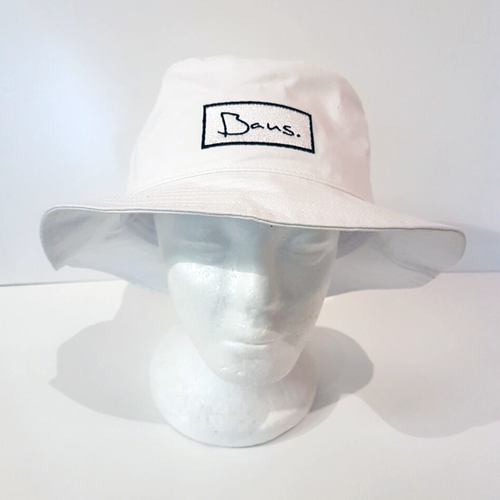 Baus Headwear - Bucket Hat Short White