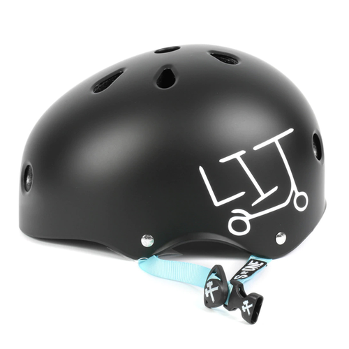 S-One - S1 Lifer Series Helmet Black Matte - Light Blue Straps