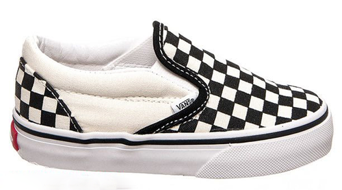 Vans - Toddler Classic Slip On Black/White Checkerboard