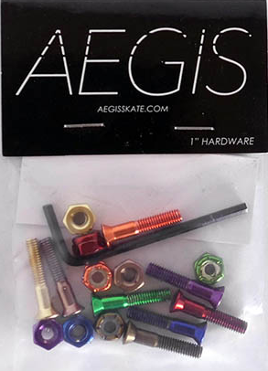 Aegis Hardware - Anodised 1 Inch Multi Coloured Allen Key Bolts