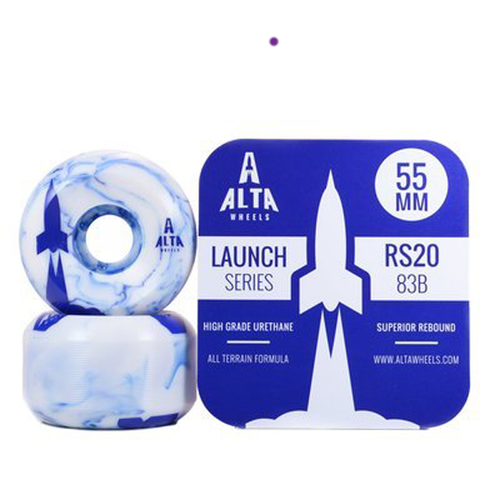 Alta Wheels - Launch Series 55mm Blue Swirl 83B