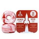 Alta Wheels - Launch Series 58mm Red Swirl 83B