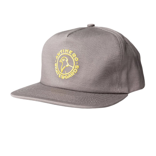 Antihero - Cap Ajustable BSC Pigeon Snapback Grey/Yellow