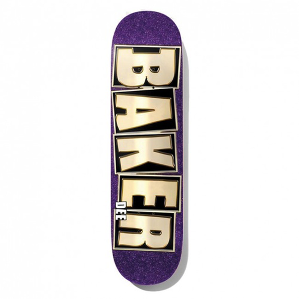 Baker - Dee Brand Name Glitter Purple 8.25 Deck