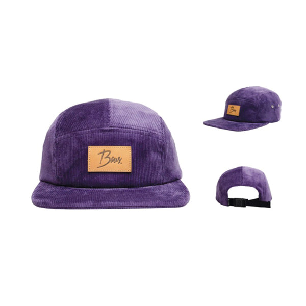 Baus Headwear - 5 Panel Camper Purple (Corduroy)