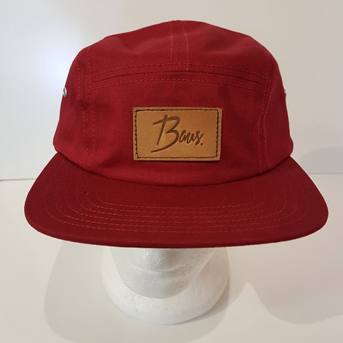 Baus Headwear - 5 Panel Camper Red