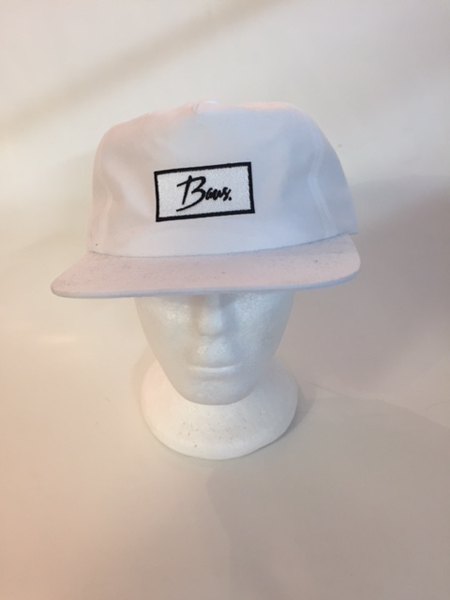 Baus Headwear - 5 Panel Snapback White