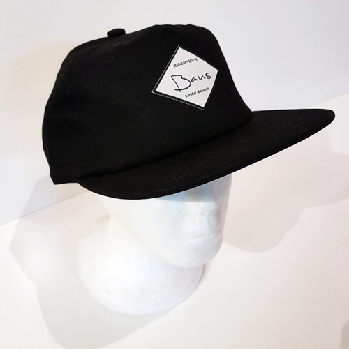 Baus Headwear - 5 Panel Soft Top Snapback Black