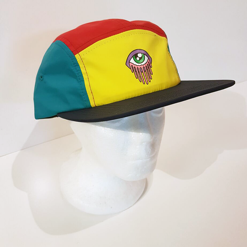 Baus Headwear - Baus x MM 5 Panel Camper Purple Yellow Red Blue