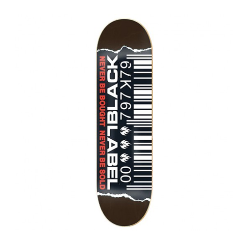 "Black Label - Ripped Barcode 8.5"" Deck"