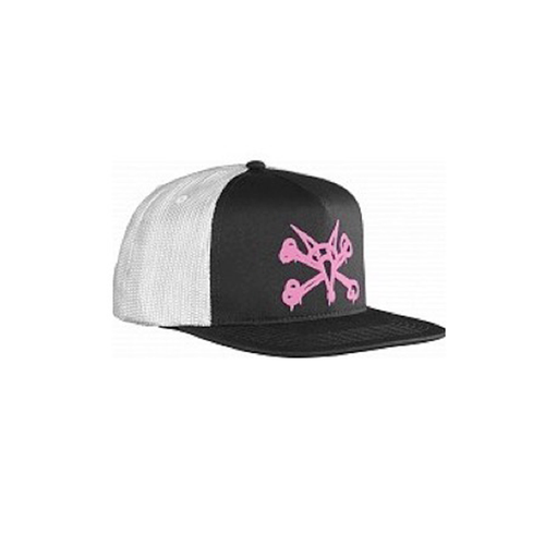 Bones - Cap Puff Black/Pink Snap Back