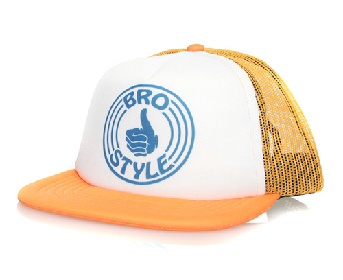 Bro Style - Logo Mesh Trucker Hat Snapback Orange