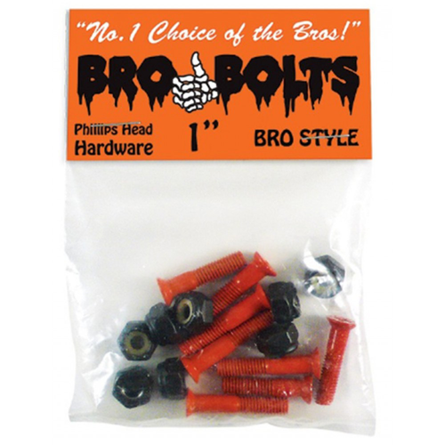 "Bro Style - Brobolts 1in"" Orange"