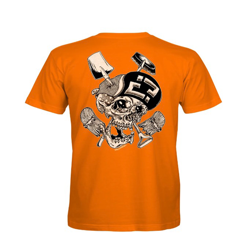 "Confusion Magazine - ""Skelly Cracker"" Orange T-Shirt"