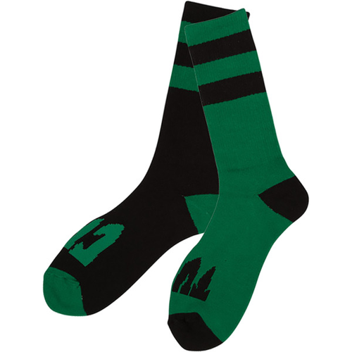 Creature - Flip Floppers Crew Socks Black/Green