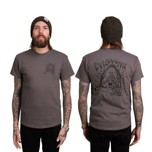 "Confusion Magazine - ""Curb Shark"" Charcoal T-Shirt"
