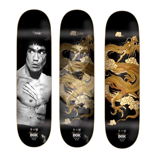 DGK - Bruce Lee Golden Dragon Black 8.0 Deck