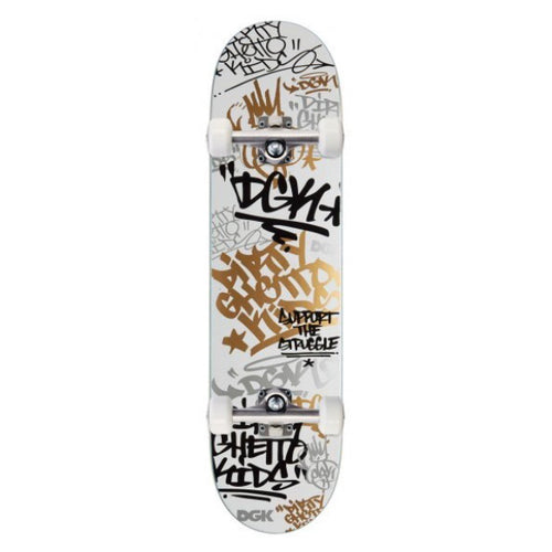 "DGK - Tag White/Gold 7.75"" Complete"