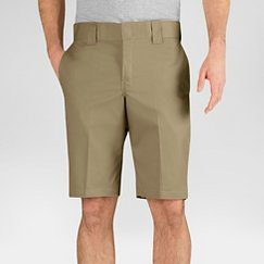 Dickies - Flat front Relaxed Fit Khaki 11 In inseam