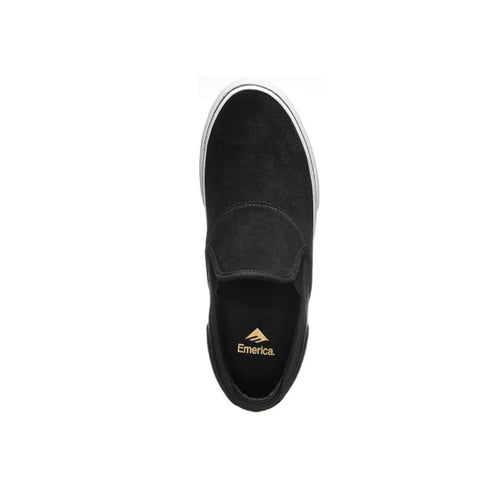 Emerica - Wino G6 Slip-On Black/White/Gold Shoes