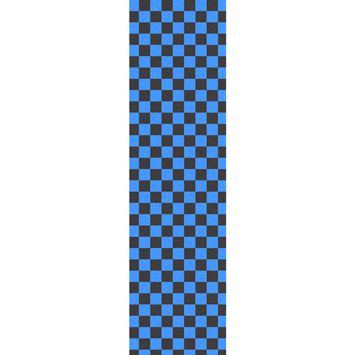 Fruity - Black & Light Blue Checkers Griptape