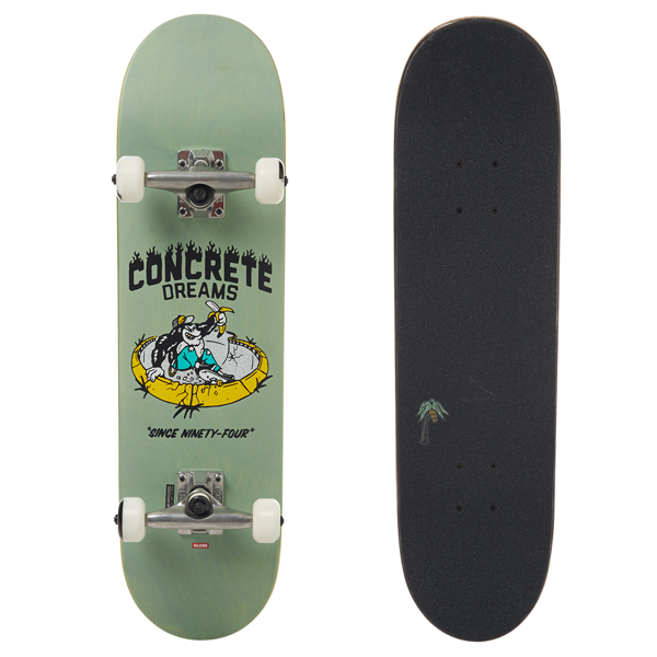 Globe - Concrete Dream Mid Breeze Green Complete skateboard 7.6""
