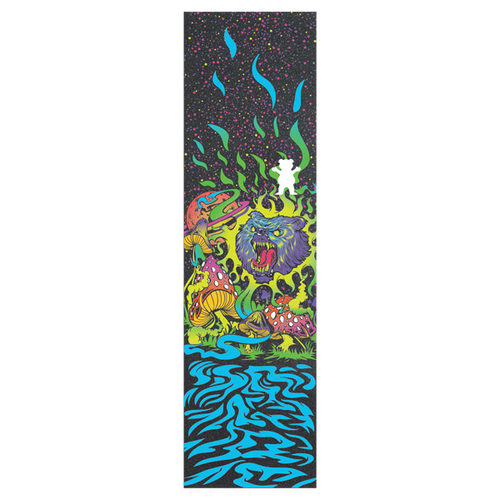 Grizzly - Joslin Black Light Griptape Cut Off Bear