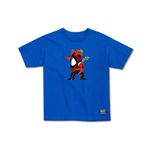 Grizzly - Marvel Spider Man OG Bear Blue Youth T-Shirt Medium