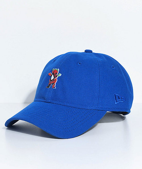 Grizzly - Adjustable Spiderman OG Bear Dad Hat Cap Royal Blue